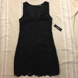 Lulus Black Lace Cocktail Short Dress